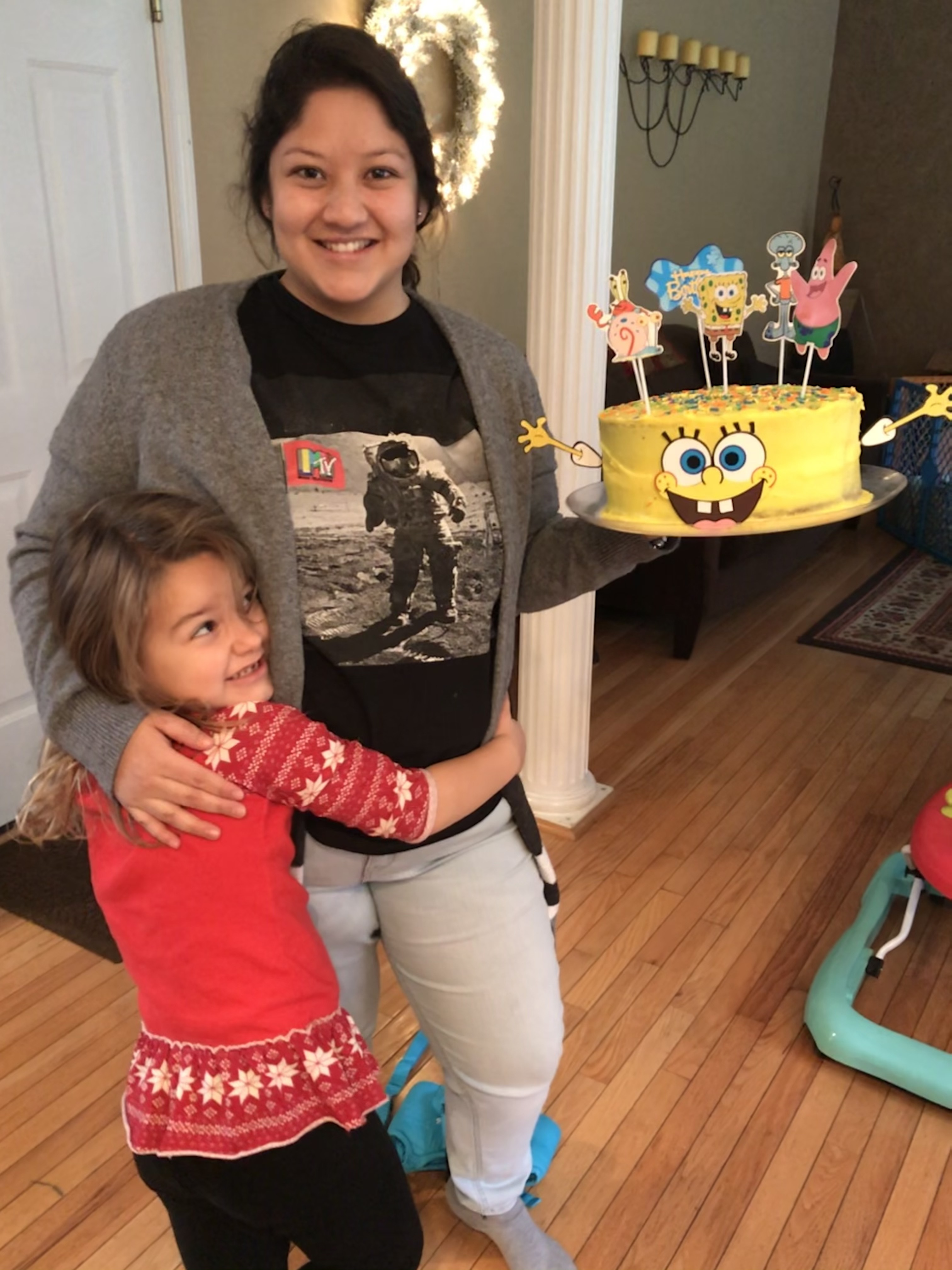 au pair pamela from ecuador celebrating host child's birthday