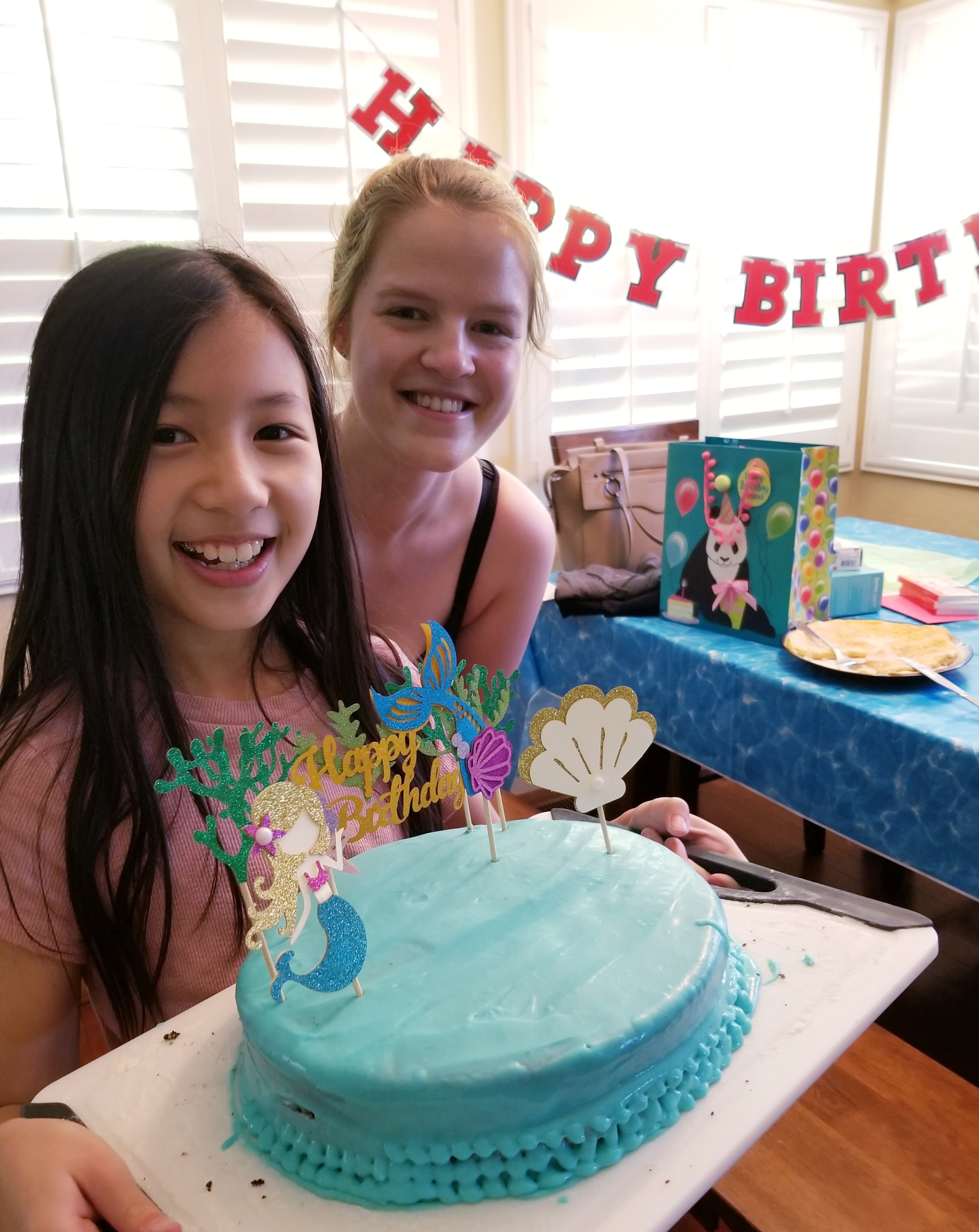 german au pair and host child in california