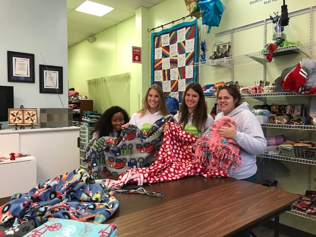 au pairs make blankets for kids