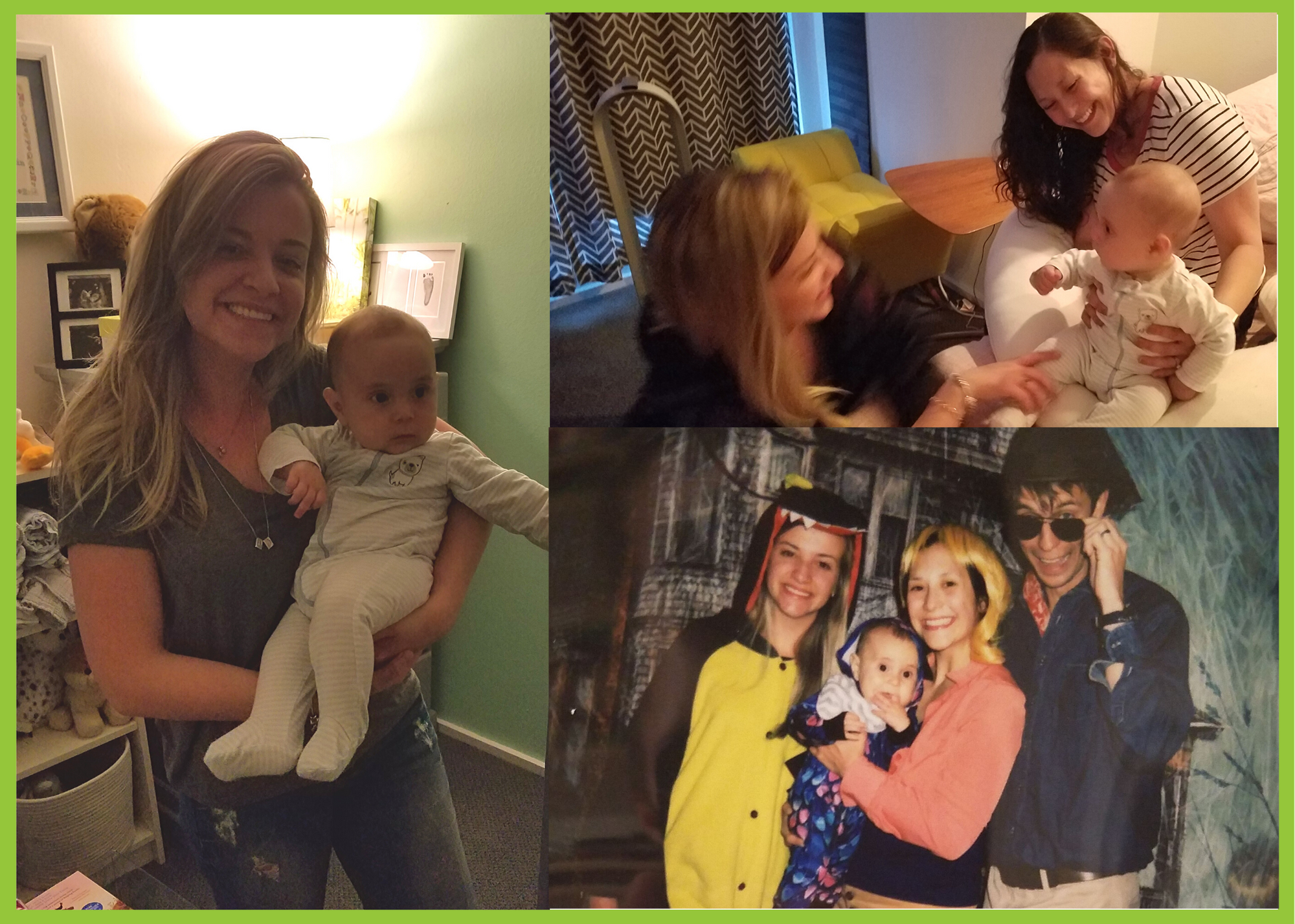 Brazilian au pair Louise with her host family and kids