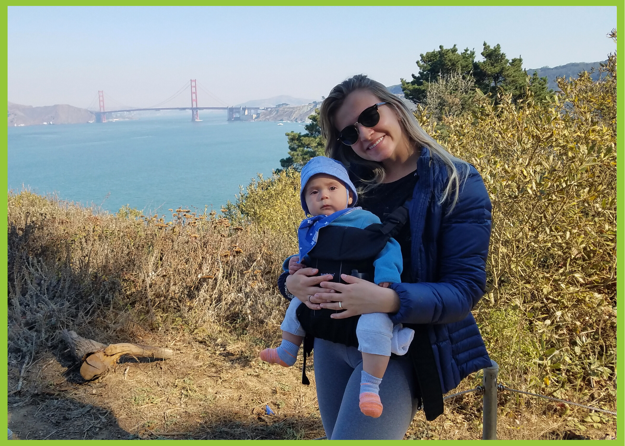 Au pair Louise in california san francisco with her host family