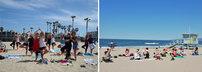 au pairs beach yoga earth day southern california