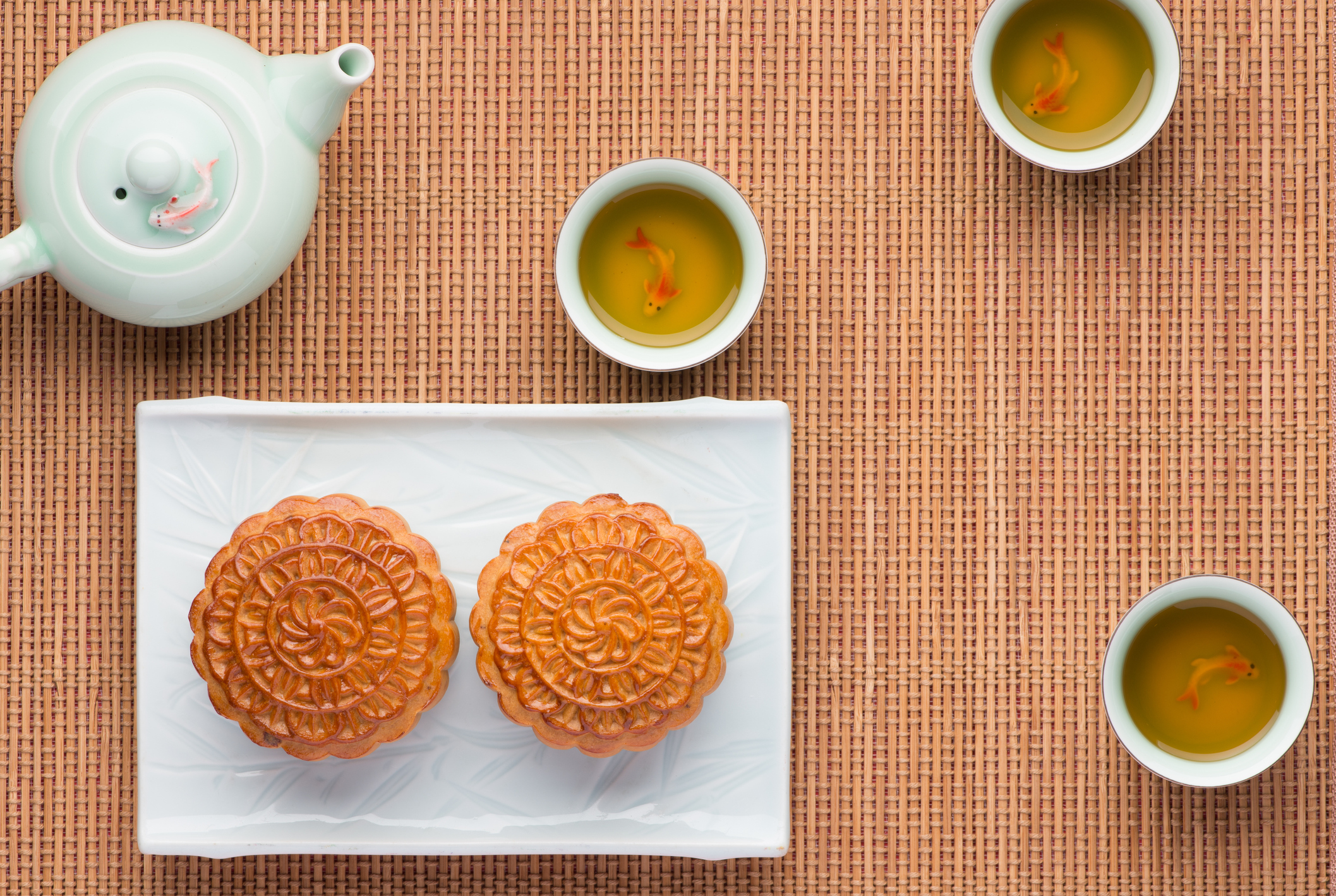 Traditional mooncakes for Têt Trung Thu