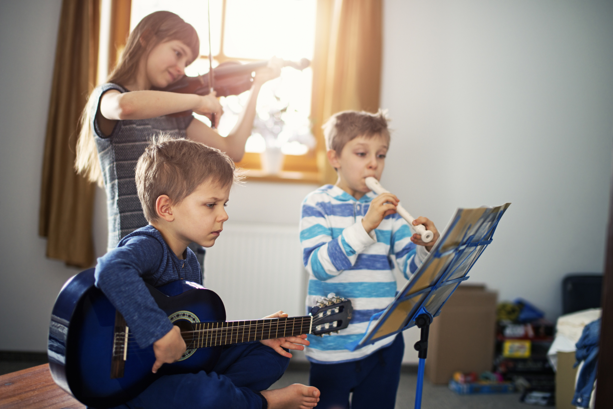 au pair kids nanny playing instruments new year bucket list