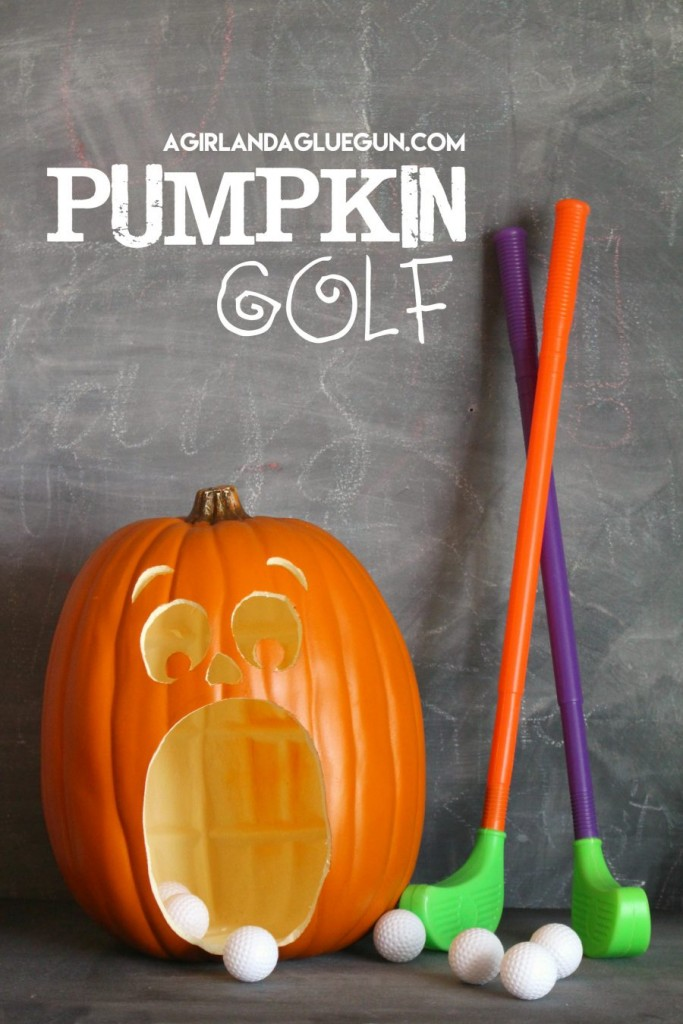 fun halloween idea pumpkin golf