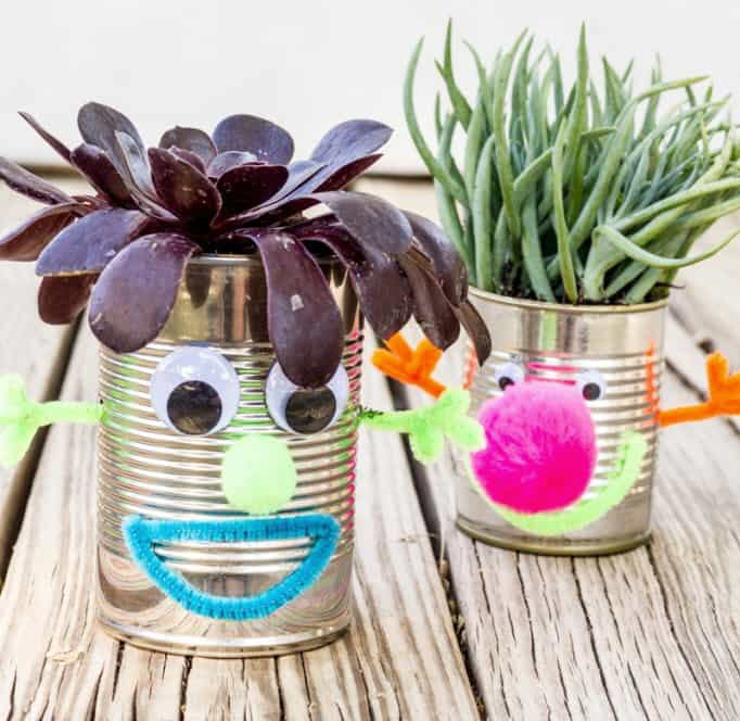 earth day crafts for kids recycles planters