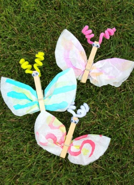 au pair kids craft butterfly