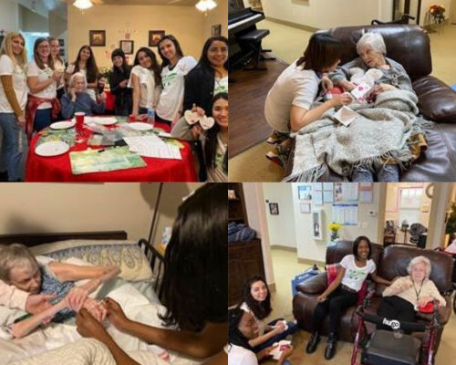 Au Pairs Volunteer at Senior Citizen Home