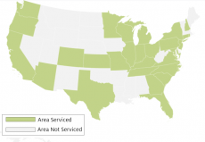 AuPairCare Current Areas Serviced