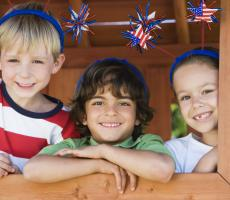 Children on the 4th of July