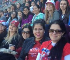 Philadelphia Au Pairs attend a Phillies Game