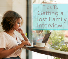 au pair host family interview