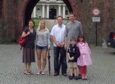 Czech au pair Tana and her U.S. host family in the Czech Republic