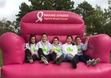 au pairs join in breast cancer fundraiser