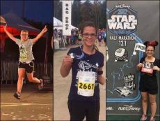 Au pair and her host family participate in marathons across the US.